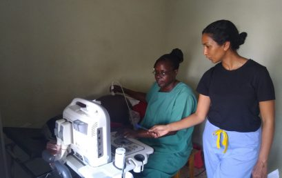 Midwives undergo training in basic obstetric ultrasound skills