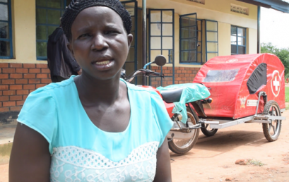 Village motorbike ambulances boost patient transport in rural Ugandan community