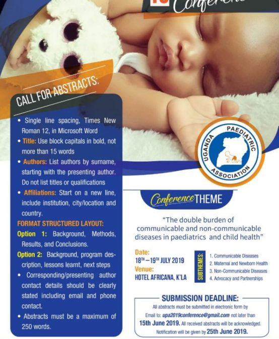 15thAnnual Uganda Paediatric Scientific Conference