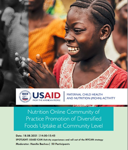 Nutrition community of practice: Promotion of diversified foods uptake at community level